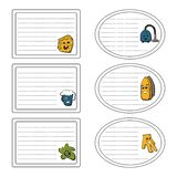 Set of stickers of the cleanup concept. Vector illustration. Labels for the cover stock illustration