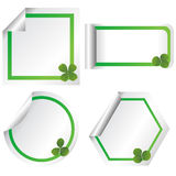 Set of stickers with clovers Stock Photo