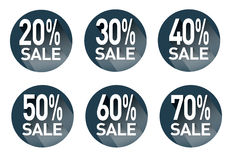 A set of stickers with discounts.Vector Stock Images
