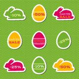 Set of stickers for easter sale Royalty Free Stock Photos