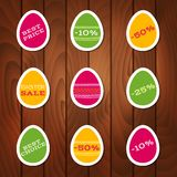 Set of stickers for easter sale. Vector set of stickers for easter sale Royalty Free Stock Image