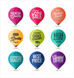 Set of Stickers Fine Colors Royalty Free Stock Photos