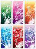 Set of stickers with flower Royalty Free Stock Photo