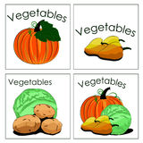 Set of stickers of fresh vegetables. It can be used for sale veg Royalty Free Stock Photo