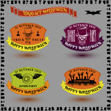 A set of stickers for Halloween in color style vector Stock Photos