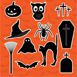 Set stickers for Halloween Stock Images