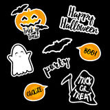 Set of stickers Halloween. Stock Images
