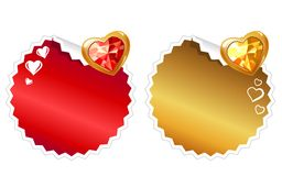 Set of stickers with hearts Stock Image