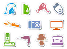 Set of stickers home appliances Stock Image