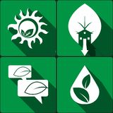 Set of stickers, icons environmental protection Royalty Free Stock Photography