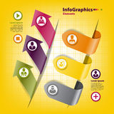 Set of stickers for infographics with business Stock Photo