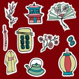 Set of stickers and patches. vector illustration