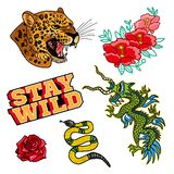 Set stickers or patches stock illustration