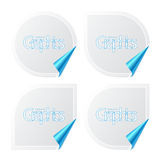 Set of stickers with peeling corners Stock Photo