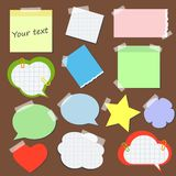 Set of stickers and reminders in different styles.  Royalty Free Stock Photography