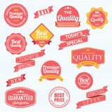 Set of  stickers and ribbons Royalty Free Stock Photos