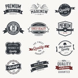 Set of  stickers and ribbons - retro Stock Photo
