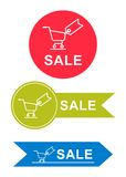 Set of stickers for sale Royalty Free Stock Images