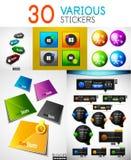 Set of stickers Stock Photos