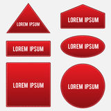 Set of stickers for text input Stock Image