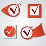 Set of stickers ticks Stock Photography