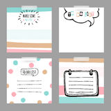 Set with stickers. To do list Royalty Free Stock Images