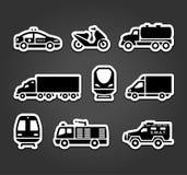 Set of stickers, transport symbols Stock Image