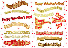 Set of stickers for valentine day - vector Stock Photography