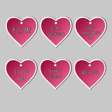 Set of stickers Valentine`s Day Stock Photos