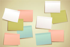 Set of sticky notes Stock Photos