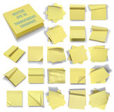 Set of sticky notes. Transparent shadows. Stock Image
