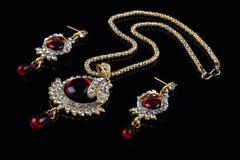 set stil för indiska smycken Arkivbilder