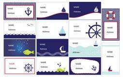Set stilvolle Visitenkarten Lizenzfreies Stockfoto
