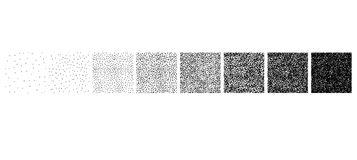Set of stipple pattern Stock Image