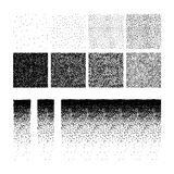 Set of stipple pattern Stock Photos