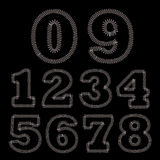 Set of Stitches Numbers Royalty Free Stock Photos