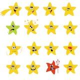 set stjärnor för symbol Royaltyfri Fotografi