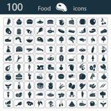 Set sto karmowych ikon Obraz Royalty Free