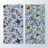 Set of stock  seamless doodle  floral pattern. orient.  Royalty Free Stock Photo