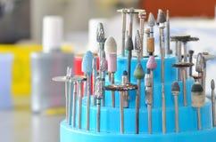 Set stomatologiczni rzepy i szlifierscy koła Zdjęcia Royalty Free