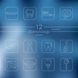 Set of stomatology icons Royalty Free Stock Image