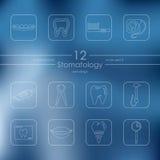 Set of stomatology icons Royalty Free Stock Image