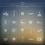 Set of stomatology icons Stock Photography