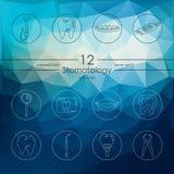 Set of stomatology icons Stock Photo