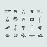 Set of stomatology icons Royalty Free Stock Photos