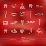Set of stomatology icons Royalty Free Stock Photos