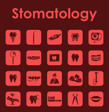 Set of stomatology simple icons Stock Photo