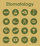 Set of stomatology simple icons Royalty Free Stock Image