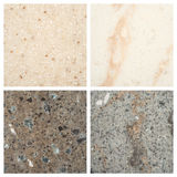 Set of Stone backgrounds Stock Photo