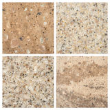 Set of Stone backgrounds Royalty Free Stock Images